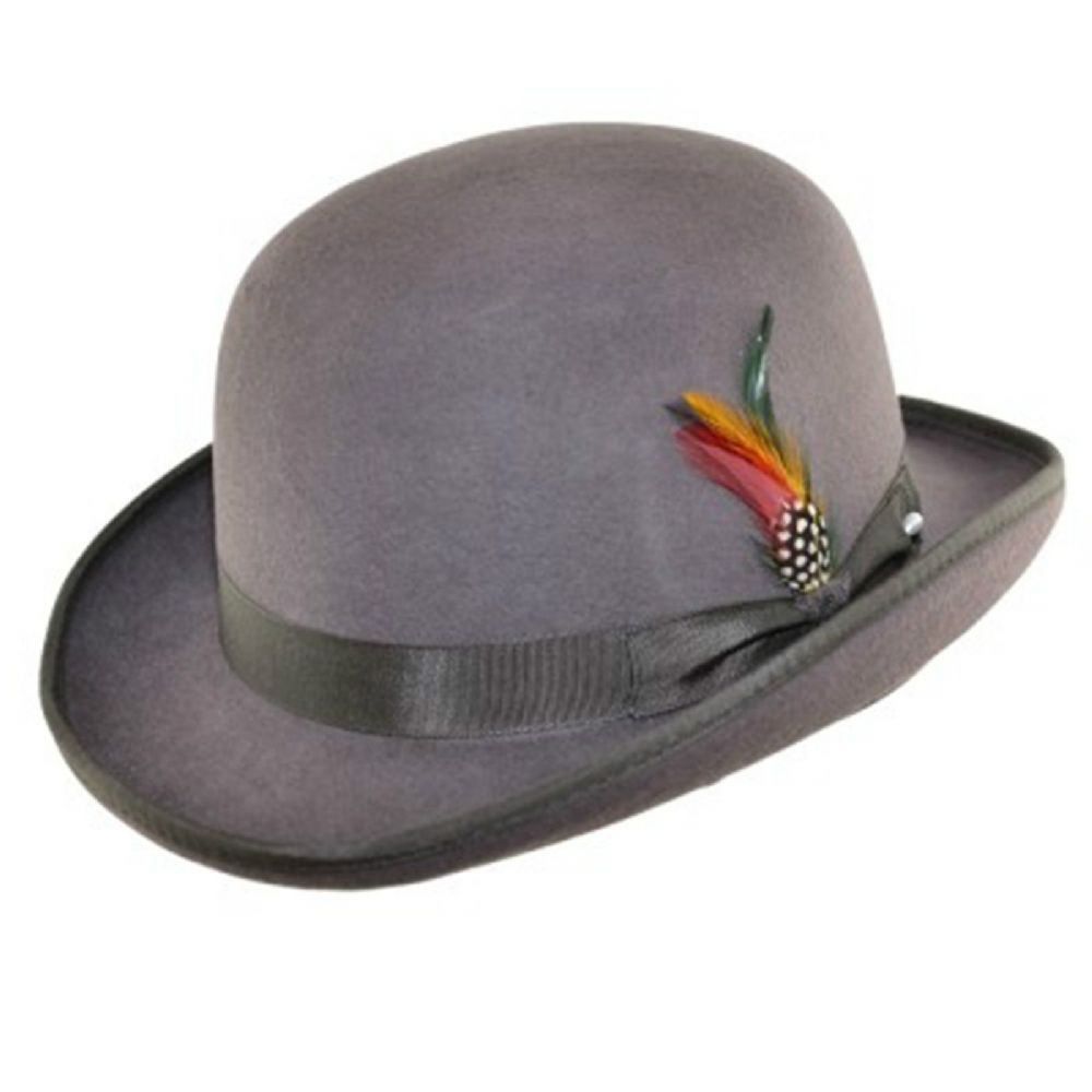 Light Grey Bowler hat